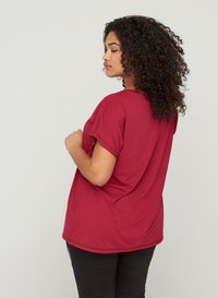 Active by Zizzi - Print T-shirt - red - 2