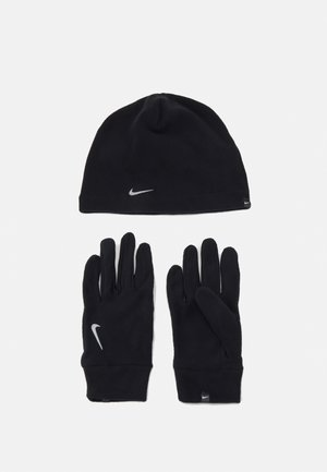 HAT AND GLOVE SET UNISEX - Pipo - black/silver