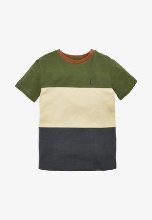T-shirt med print - khaki