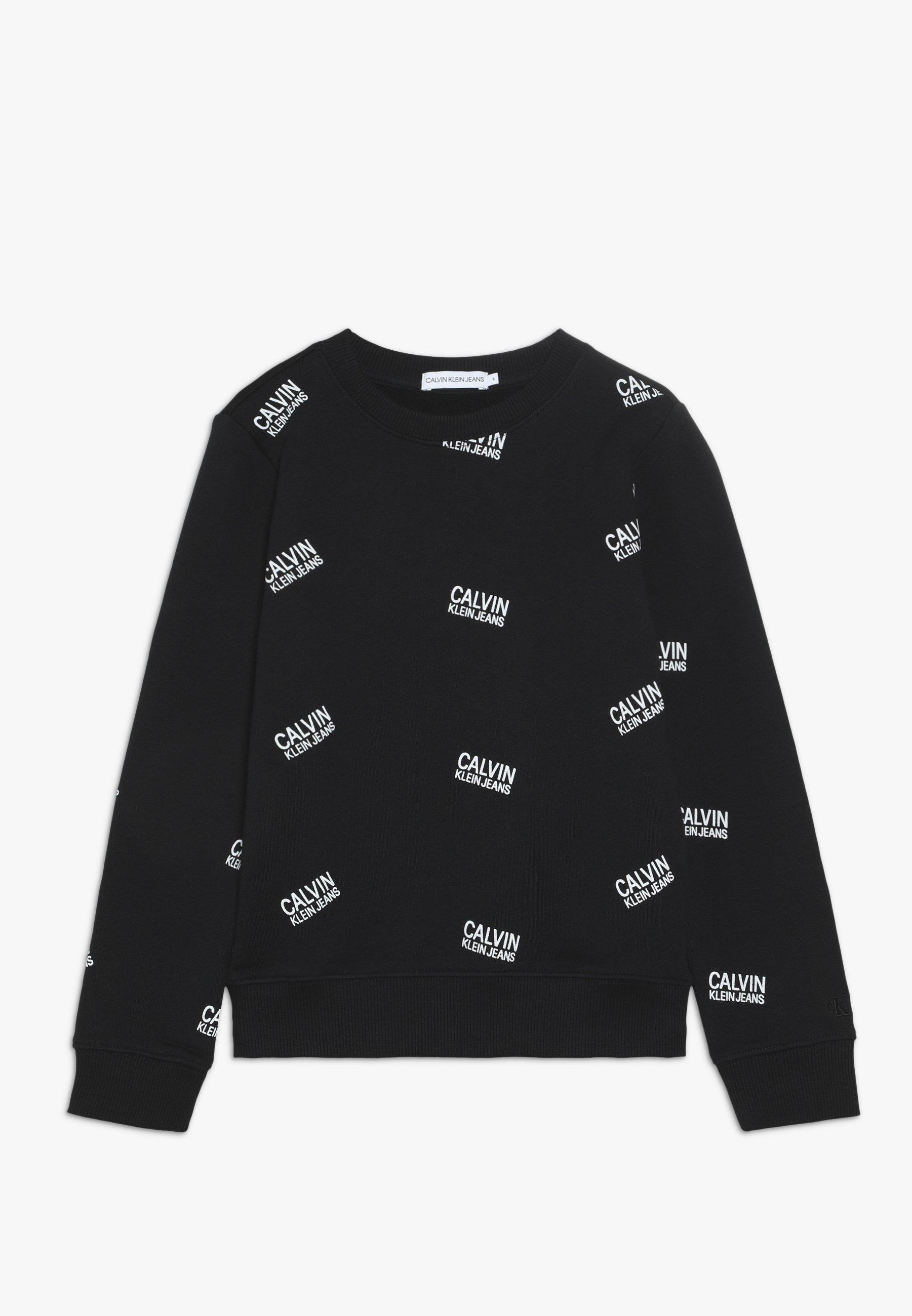 Große Förderung Calvin Klein Jeans STAMP LOGO - Sweatshirt - black | Damenbekleidung 2020