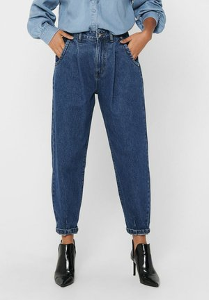 Relaxed fit jeans - dark blue denim