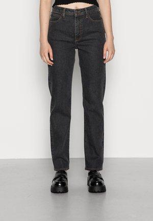 CAROL WESTERN - Straight leg jeans - black rinse