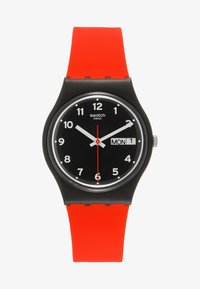 Swatch - RED GRIN - Klokke - black