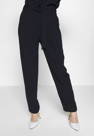 BUCKLE DETAIL TROUSER - Trousers - navy blue