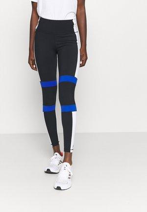 Leggings - black/white/royblu