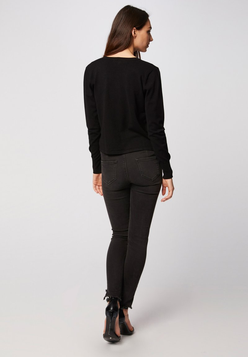 Morgan MSISA - Strickjacke - black/schwarz lgSChg
