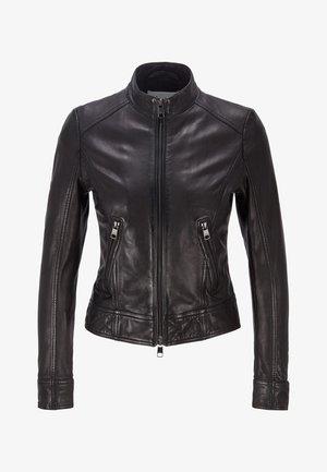 SABELIA - Leather jacket - black