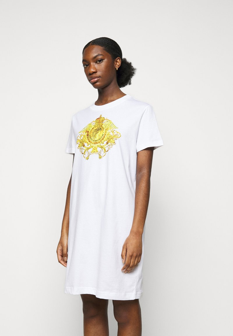 Versace Jeans Couture - LADY DRESS - Jersey dress - optical white