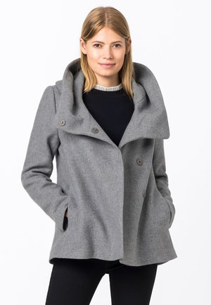 WITH A VOLUMIN - Summer jacket - light gray melange