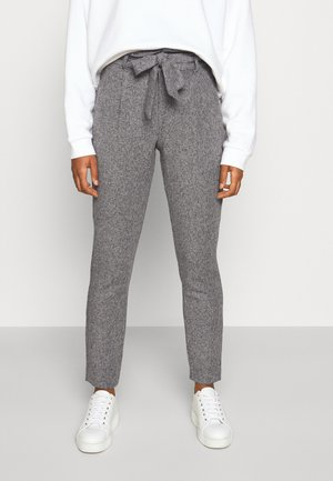 VMEVA LOOSE PAPERBAG PANT - Trousers - medium grey melange/salt/ pepper