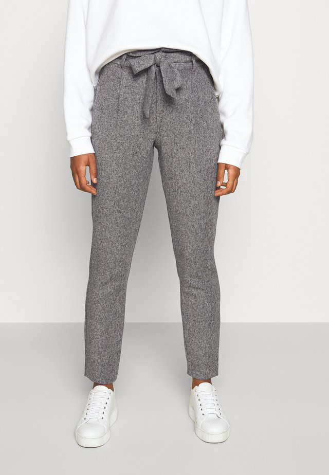 VMEVA LOOSE PAPERBAG PANT - Pantalon classique - medium grey melange/salt/ pepper