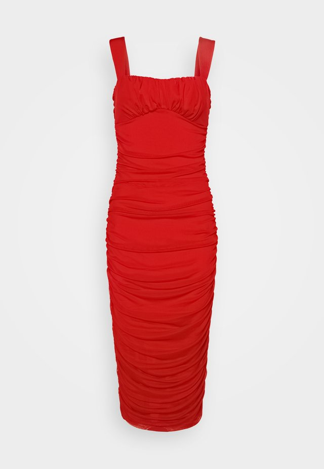 SHAPED BUST DRESS - Robe de soirée - red