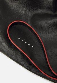 Marni - MUSEO SOFT DRAWSTRING - Across body bag - black/navy blue - 4