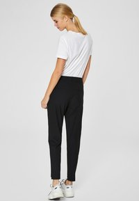 Selected Femme - MID WAIST - Trousers - black - 2