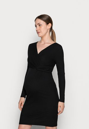 NURSING DRESS - Jersey dress - black