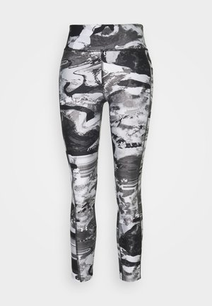 PRINT ANKLE CROP - Legginsy - black