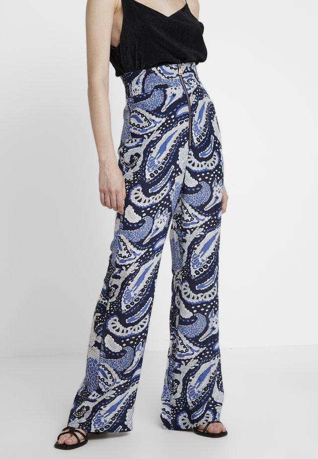 PAISLEY PANT - Spodnie materiałowe - royal