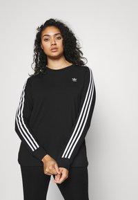 adidas Originals - 3-STRIPES ORIGINALS ADICOLOR LONG SLEEVE T-SHIRT - Long sleeved top - black - 0