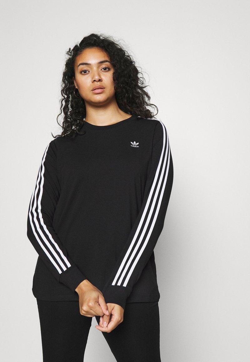 adidas Originals - 3-STRIPES ORIGINALS ADICOLOR LONG SLEEVE T-SHIRT - Long sleeved top - black