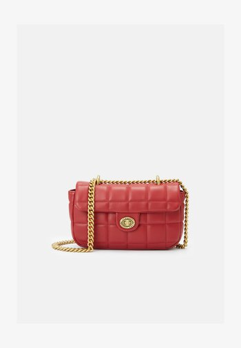 QUILTED CROSSBODY - Across body bag - red