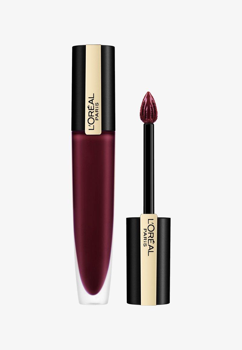 L'Oréal Paris - ROUGE SIGNATURE METALLIC - Liquid lipstick - 205 i fascinate