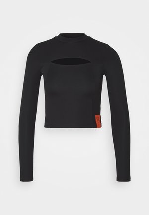 SEXY OPENINGTEE - Long sleeved top - black