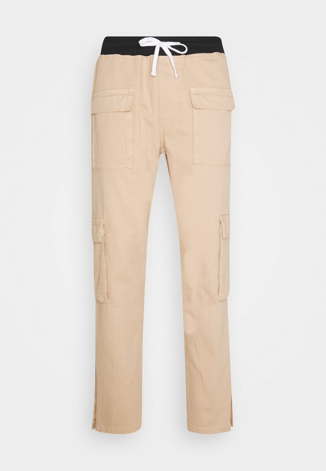 POPPER PULL ON PANT - Trousers - stone