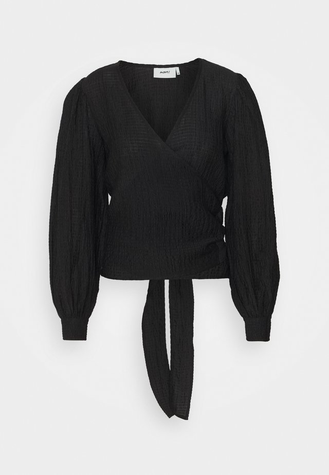 PATTI - Long sleeved top - black