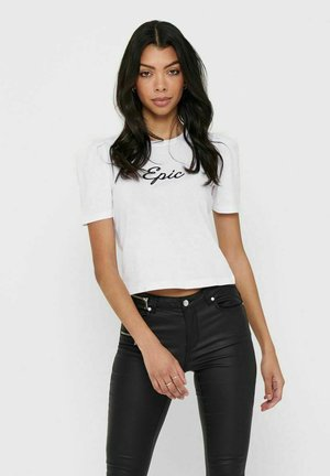 PUFFÄRMEL - Camiseta estampada - bright white
