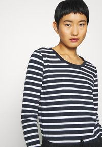 Tommy Hilfiger - CANDICE ROUND - Long sleeved top - breton white/desert sky - 3