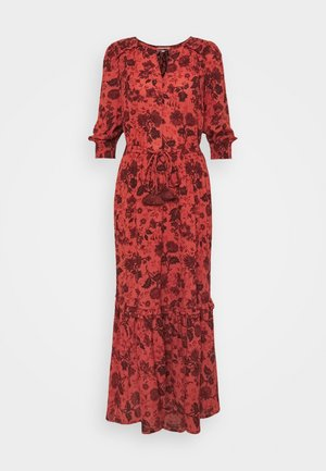 AUTUMN FLARE DRESS - Maxi dress - red