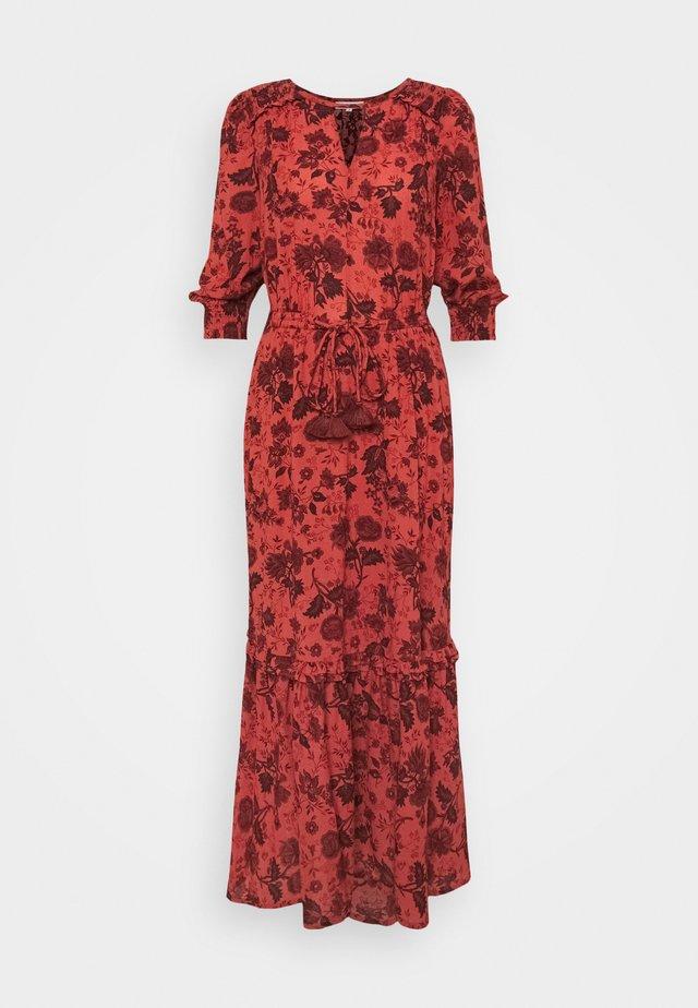 AUTUMN FLARE DRESS - Maxi-jurk - red