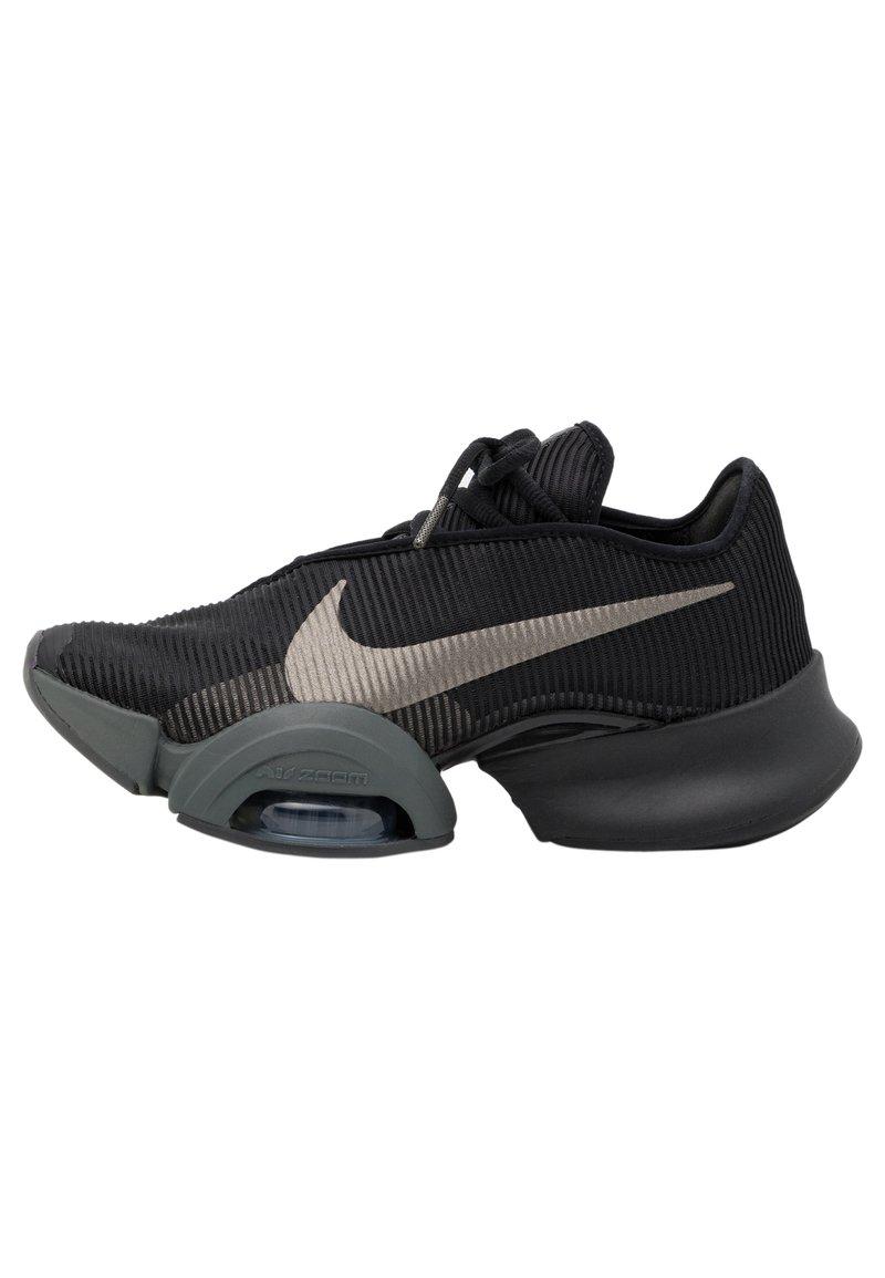 Nike Performance - AIR ZOOM SUPERREP 2 UNISEX - Sports shoes - black/mtlc pewter-iron grey-mtlc pewter