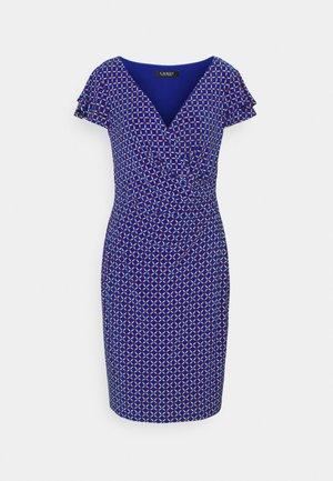 PRINTED MATTE DRESS - Shift dress - french ultramarin