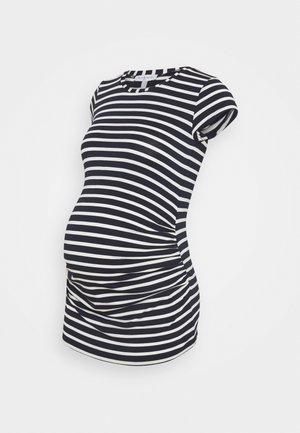 KATIA - T-shirt z nadrukiem - navy blue/off white