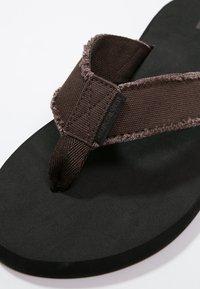 Quiksilver - MONKEY ABYSS - T-bar sandals - demitasse - 5