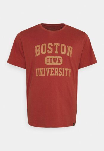 COLLEGE PRINT TEE - T-shirt med print - bruned red