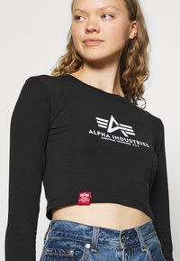 Alpha Industries - BASIC CROPPED  - Long sleeved top - black - 3
