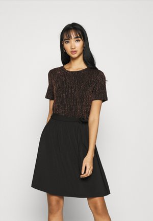 ONLFURIOUS DRESS - Day dress - black/burnt henna