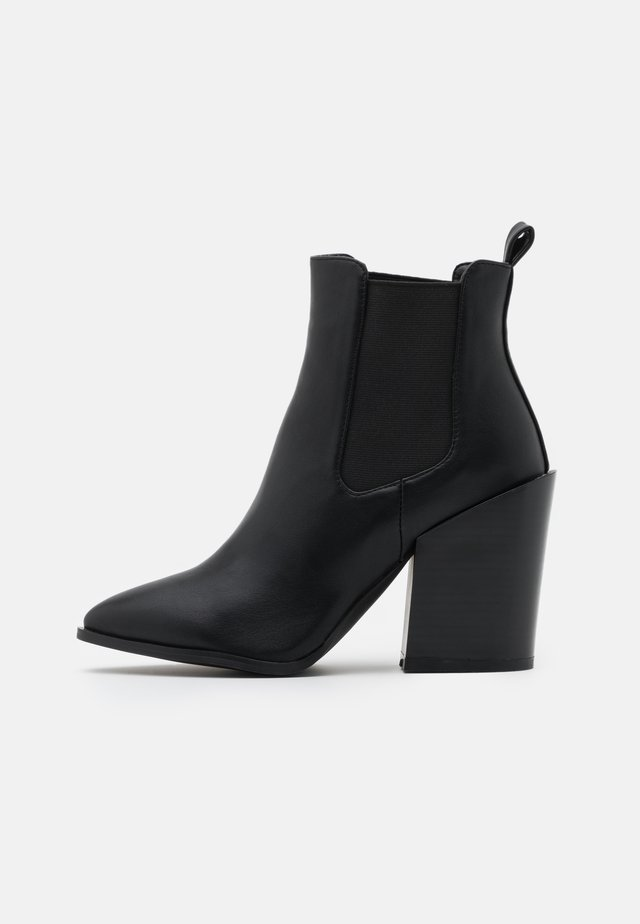 WIDE FIT KLEIN - High heeled ankle boots - black