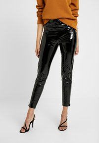 Missguided Tall - ZIP DETAIL TROUSERS - Stoffhose - black - 0