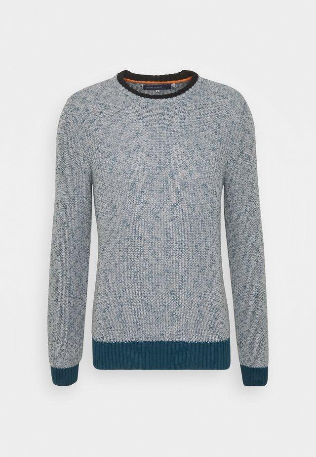 Strikkegenser - blue/grey