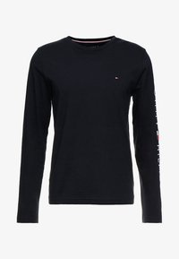 Tommy Hilfiger - LOGO LONG SLEEVE TEE - T-shirts - blue