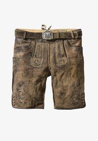 Stockerpoint - THOMAS - Kožené kalhoty - stein - 3