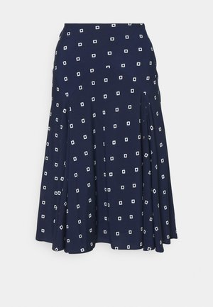 A-line skirt - french navy/pale
