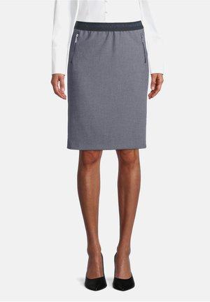 Pencil skirt - dunkelblau/weiß