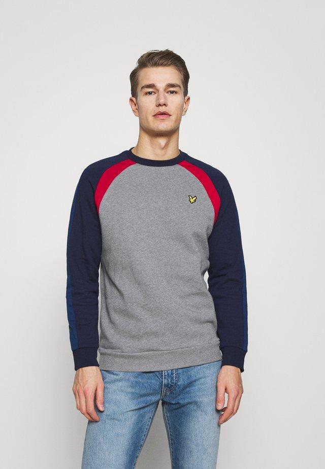 THREE PANEL - Sweatshirt - mid grey marl