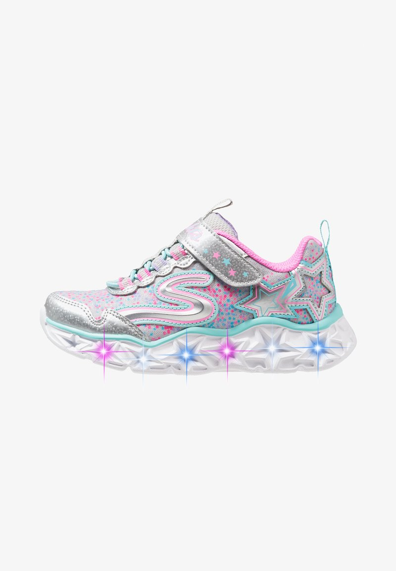 Skechers - GALAXY LIGHTS - Trainers - silver/multicolor