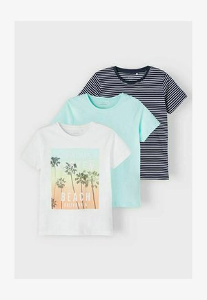 3-PACK - Print T-shirt - bright white