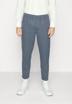 ELASTICATED WAIST - Pantaloni - blue